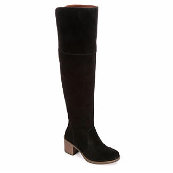 6dc6b5357d0 Lucky Brand Shoes - Lucky brand suede thigh-high boots
